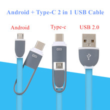 1m 2 in 1 Micro USB to Type c Cable Android Type-c USB-C Adapter Converter for Samsung Xiaomi 4C Mi 5 Letv huawei P9 N1 MI5 MI4C
