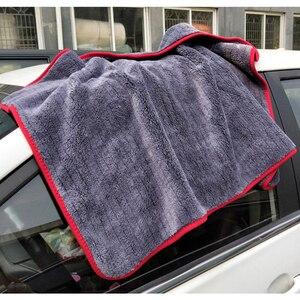 Image 3 - Полотенце из микрофибры 900gsm 90х60 см, тряпочка для автомойки, детализация инструмента для очистки автомобиля, сушильное полотенце, толстое полированное полотенце, супер впитывающее полотенце