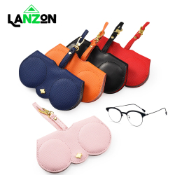 Soft Leather Sunglasses Case Glasses Protector Bag Luxury Eye glass Holder Bags Eye wear Cover Hanging Ornament Dropshipping