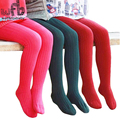 Retail 2-7years tights stockings candy color thickened children Kids infant Baby Combed Cotton spring autumn fall winter