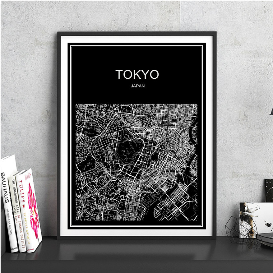 Compare prices on world coffee map poster online shoppingbuy low new black world map of tokyo vintage poster kraft paper poster wall art crafts sticker for gumiabroncs Choice Image