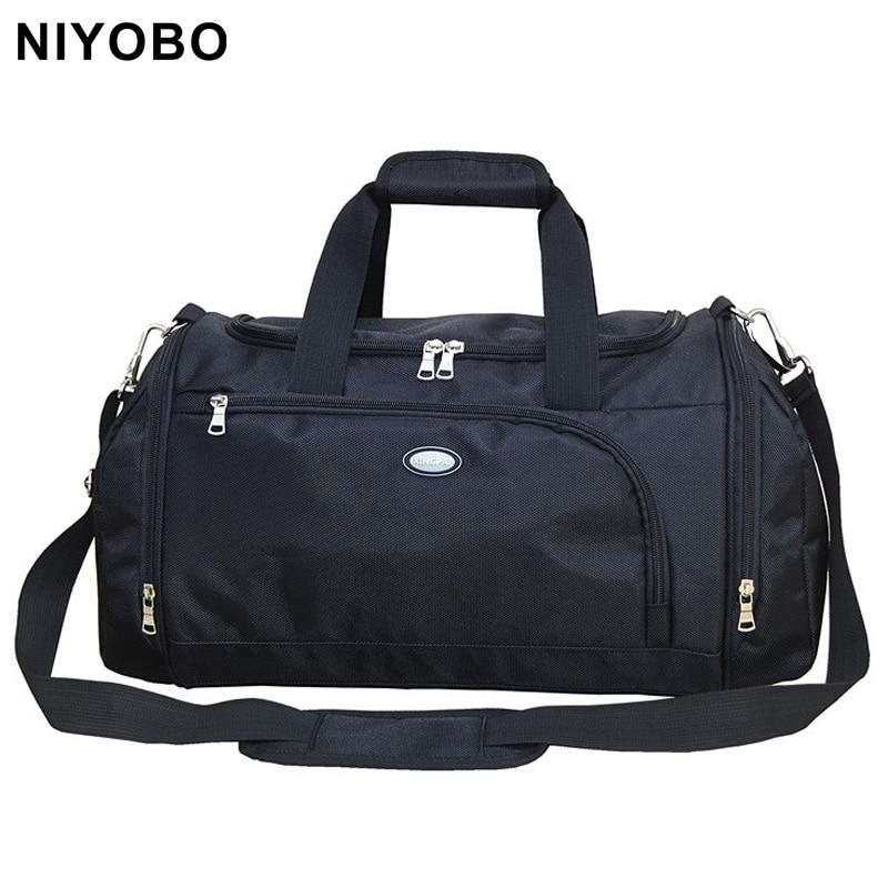 ใหม่สไตล์กระเป๋าเดินทางสำหรับผู้หญิงและผู้ชายความจุขนาดใหญ่ PortableTravel Duffel บนกระเป๋า PT1064