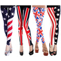 YONO New Fashion Women Pants Mid Waist Skinny Leggings Slim Thin Stretch The US Flag Print Trousers Casual Pantalon Femme Hot