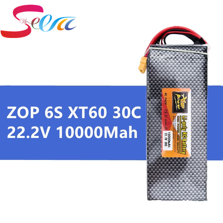 5pc ZOP Drone Lipo Battery 22.2V 10000mAh 6S 30C XT60 EC5 T XT90 For Rc FPV Helicopter Airplance Quadcopter Truck Boat Lithium 6s lipo 22 2v 10000mah lithium battery ec5 or t or xt60 xt90 plug for rc helicopter qudcopter drone car boat