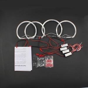 Image 5 - Rockeybright 1 комплект Angel Eyes для BMW E36 E38 E39 E46 теплый белый кольцо Halo для BMW E46 131 мм * 4 кольца Halo светильник Angel Eye