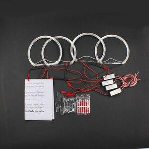 Image 5 - Rockeybright 1 zestaw anioł oczy zestaw do BMW E36 E38 E39 E46 ciepłe białe Halo pierścień dla BMW E46 131mm * 4 pierścienie halogenowe anioł oko