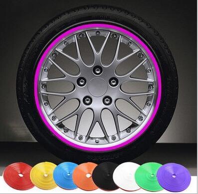 8M Car Styling Wheel Rim Protection Sticker Wheel Hub Protective Tape For Kia Rio k2 K3 K5 K4 Cerato,Soul,Forte,Car Accessories