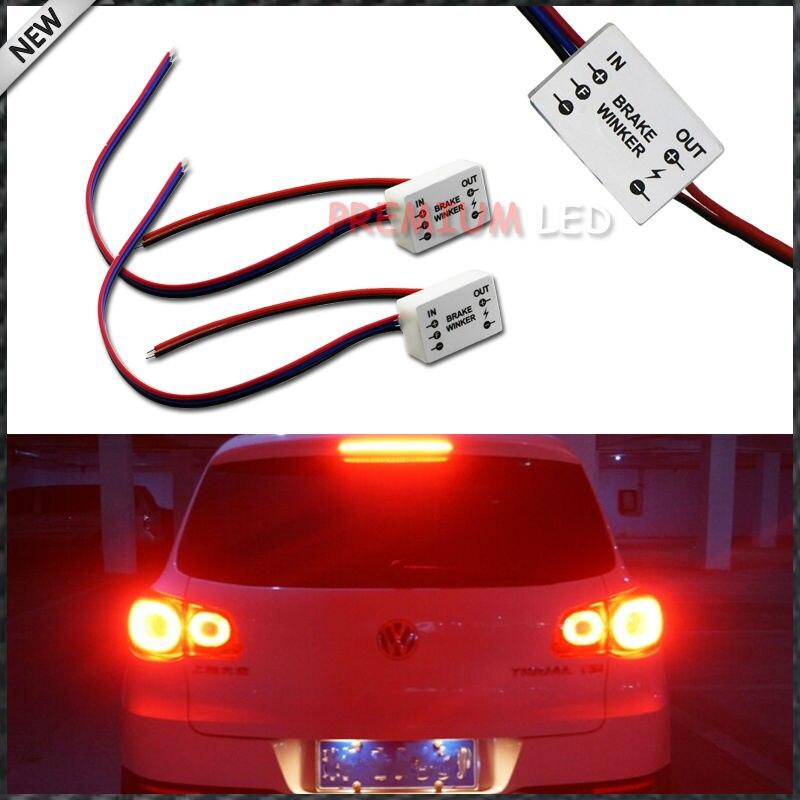 (2) caja de módulo de Flash estroboscópico continuo para la luz de freno del coche 3rd, lámpara antiniebla trasera, Taillamps