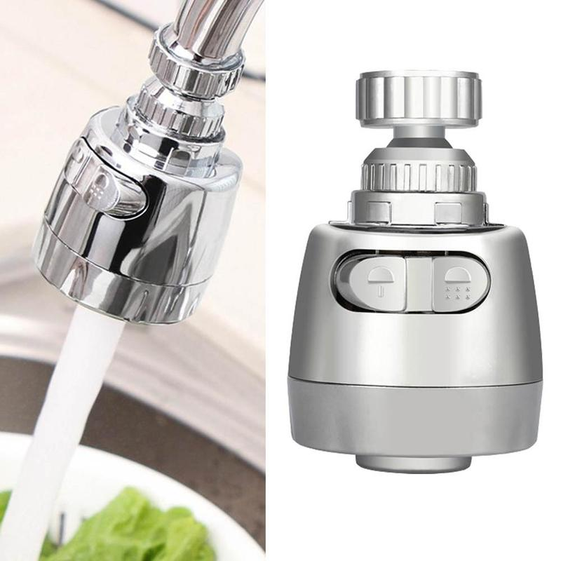 ABS Kitchen Shower Faucet Aerators Rotatable Bubbler Faucets Head Extender Water Saving Tap Nozzle Adapter Sink Accessories