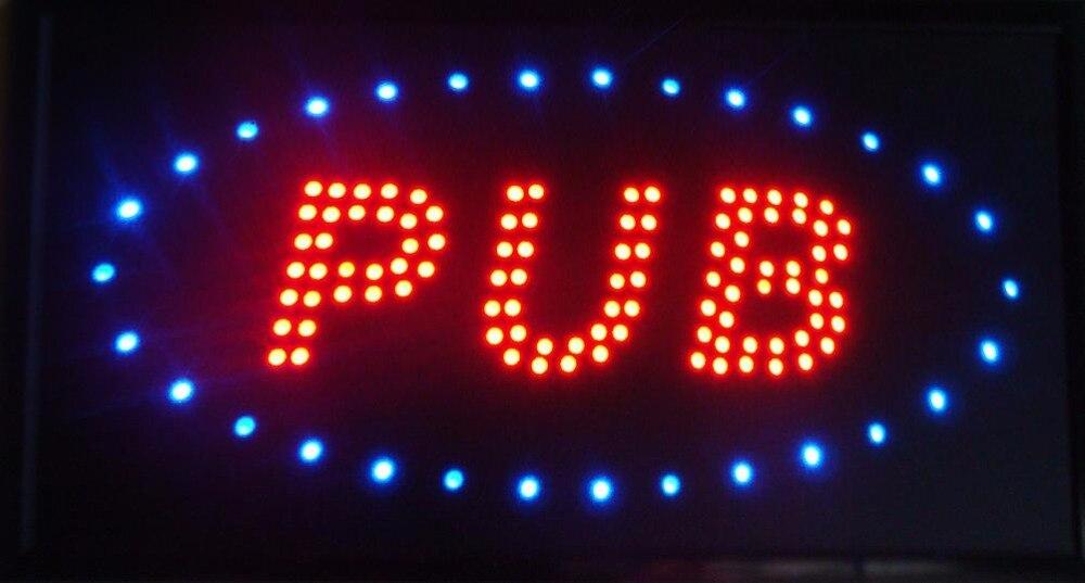 Pub bar bière magasin néon signalisation CHENXI vente directe personnalisé Semi-extérieur graphiques led signe 10*19 pouces lumière