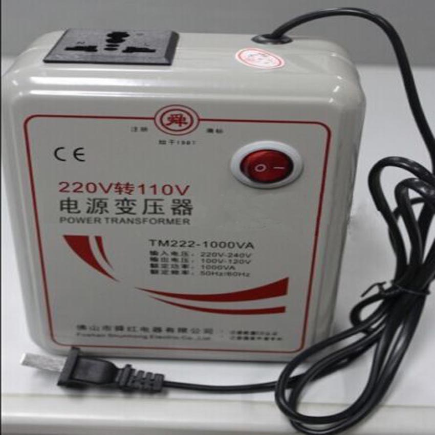 1 PC 1000w 1KVA Step Down Voltage Converter Transformer 220v-240V to 110v-120V 1pcs lot sh b17 50w 220v to 110v 110v to 220v
