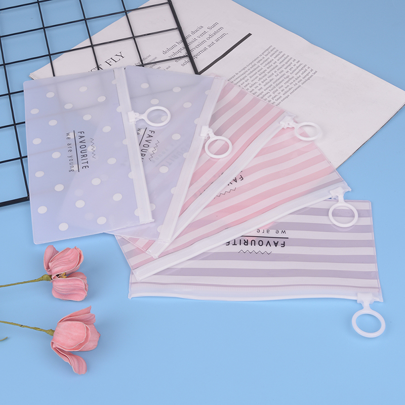 Korea School Stationery Lovely Cute Kawaii Creative PVC Envelope To Receive Bag Fresh Translucent Folder 18.8*9.3cm