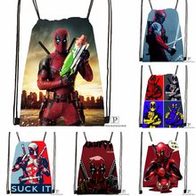 Custom Deadpool Marvel Comics Drawstring Backpack Bag Cute Daypack Kids Satchel (Black Back) 31x40cm#180531-02-31(China)
