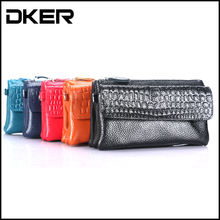 2017 Brand Women's New First-class Real Leather Phone Package Korean Version Of The Fashion Messenger Bag Hand Holding The Bag