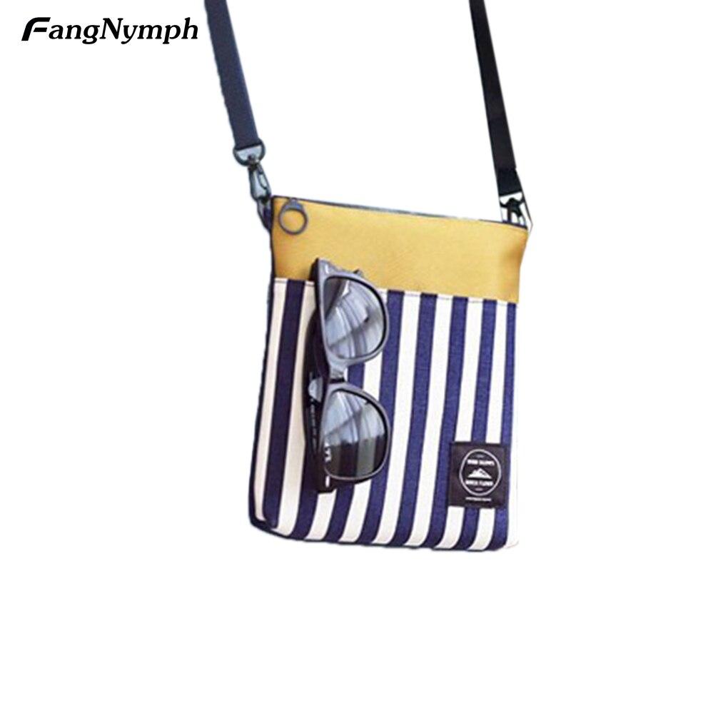 Women's Shoulder Messenger Crossbody Portable Bag Digital Stripes Small Satchel 18 x 3 x 20 cm