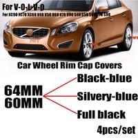 4PCS 60mm 64mm 자동차 휠 림 허브 센터 캡 커버 엠블럼 XC90 XC70 XC60 V40 V50 V60 V70 V90 S40 S50 S60 S70 S90 휠 센터캡 자동차 및 오토바이 -