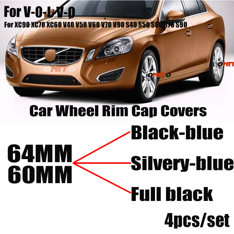 Car Styling 4PCS 60mm 64mm Car Wheel Rim Hub Center Cap Covers Emblem For XC90 XC70 XC60 V40 V50 V60 V70 V90 S40 S50 S60 S70 S90-in Wheel Center Caps from Automobiles & Motorcycles