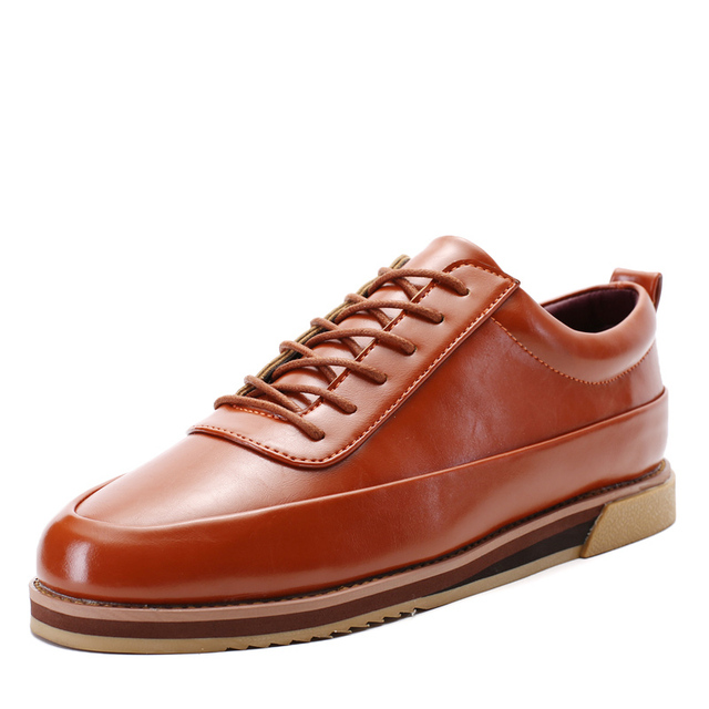 2017 New  Style Men Classic Retro Oxfords Leather Brogue Shoes High Quality Lace Up Casual Shoes Men Flats Zapatos Hombre 1626