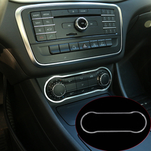 Алюминий сплава Кондиционер Панель Накладка для Mercedes-Benz gla cla 200 220 A180 B200 аксессуар стайлинга автомобилей