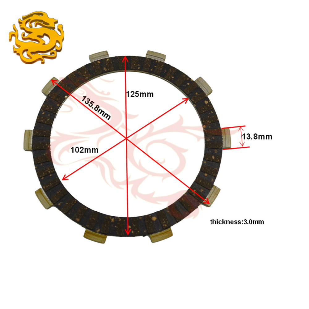 100 brand new motorcycle parts clutch friction plates kit for honda xr200r xr200 r xr [ 1000 x 1000 Pixel ]