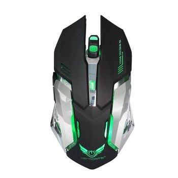 2.4G souris sans fil Rechargeable souris optique 6 boutons 2400 DPI souris d'ordinateur 7 couleurs souris de jeu de LED pour PC ordinateur portable Gamer