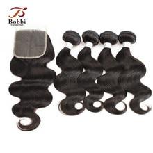 Arneses peruanos de la armadura del pelo de la onda del cuerpo 3/4 con extensiones naturales de la trama del pelo humano de Remy teñible del color BOBBI COLECCIÓN