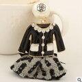 CC pearl enamel keychain/2015 luxury designer brand jewelry/chaveiro/llaveros/porte clef marque/strass/birthday souvenirs/gift
