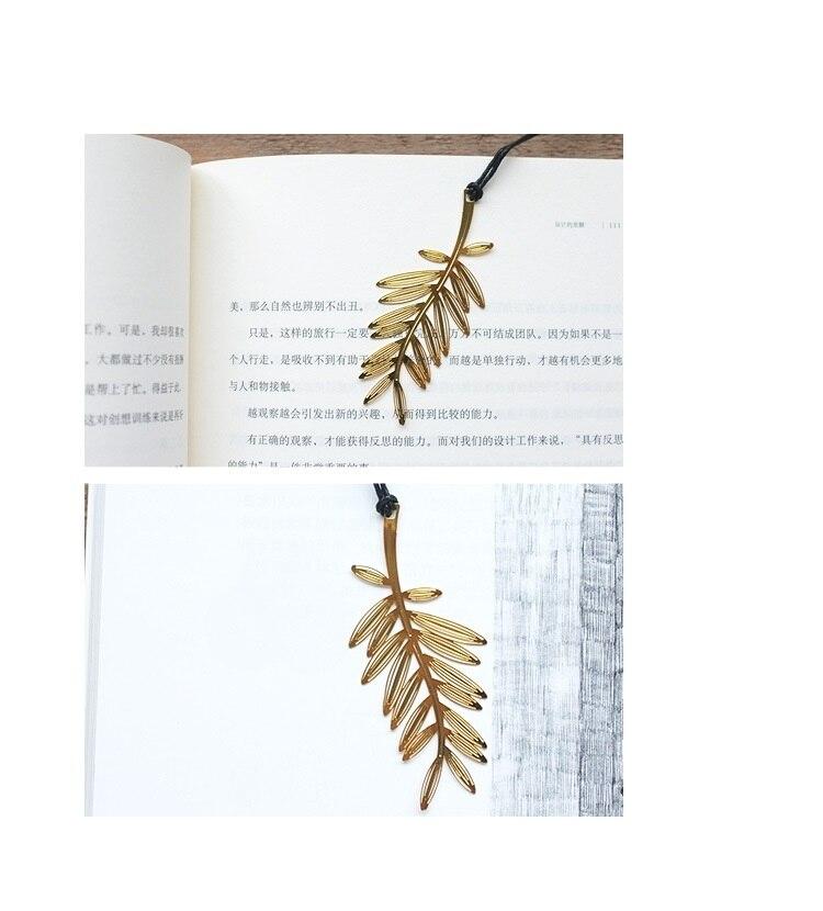 Купить с кэшбэком 40 pcs/Lot Golden palm tree bookmarks Metal plant bookmark Fancy gifts Stationery item Office School supplies FC641