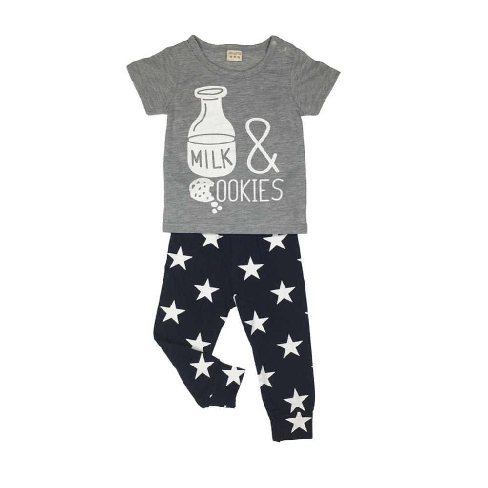 b4fbd94b0 2017 Summer Style Baby Boy Clothes Set Milk Bottle Model Cotton ...