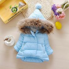 hot deal buy baby boys girls jackets 2019 winter children's clothing girls clothes for kids boys warm thick pink blue hooded outerwear coats