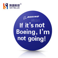 Boeing Poster Round Sticker Water Proof for Car Motorcycle Luggage Bag for Aviation Lover Pilot Flight Crew