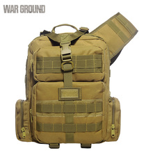 Tactical chest bag multi-function cross-body casual camo Oxford sport field slingshot