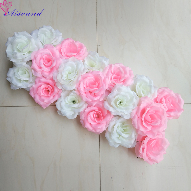 Aliexpress buy aisound wedding arch flower floral arrangement aisound wedding arch flower floral arrangement decorative flowers gold silver silk rose festiveparty supplies flories mightylinksfo
