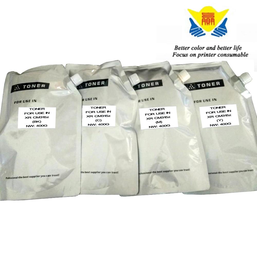 Jianyingchen Suitable Shade Refill Toner Powder For Xerox Docuprint Cm315Z Cp315 Laser Printer (4Pcs/lot) 400G Per Bag