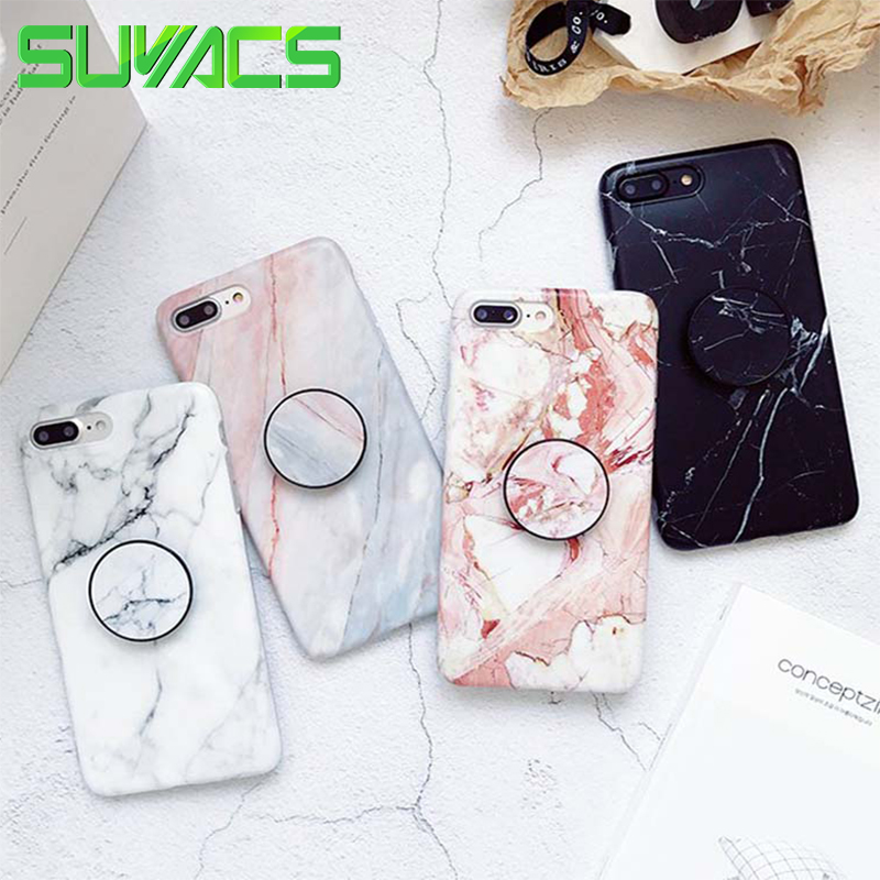 SUYACS Phone Case For iPhone 6 6S 7 8 Plus X XS MAX XR Fashion Marble Teenage Style Soft IMD Graphic Phone Case Cover Shells Bag(China)