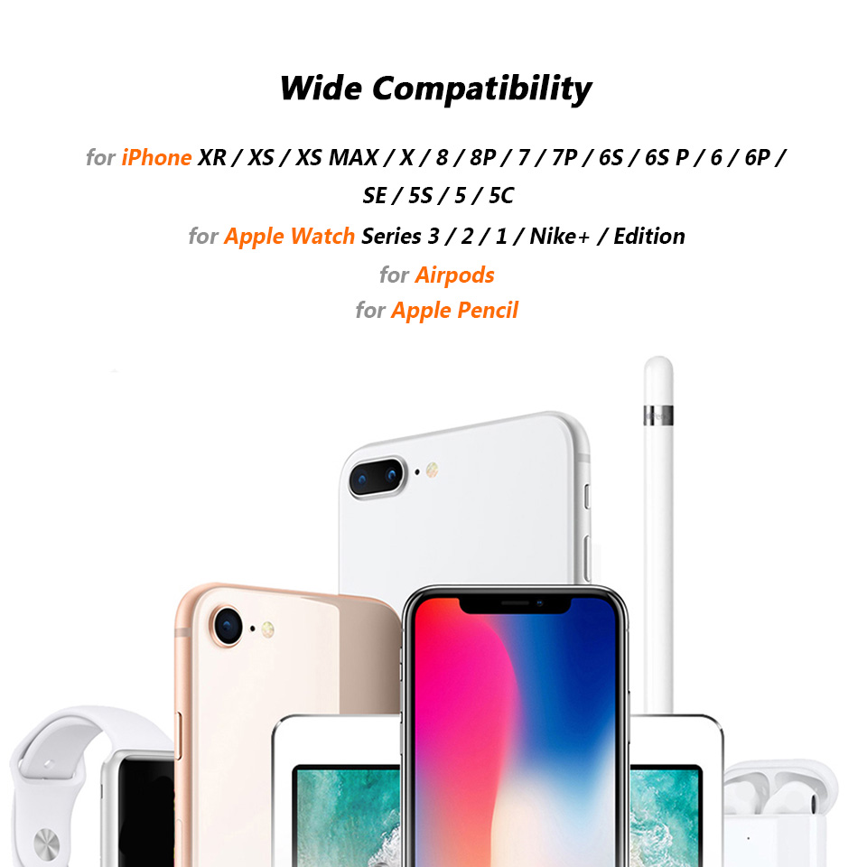 reputable site 34a6e 90d75 For iPhone XR XS Max 8 7 6 6S Plus Charging Docking Station for Apple  Pencil Watch iWatch 4 3 2 1 Airpods Desktop Charger Stand
