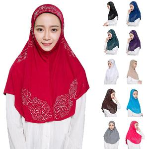 Женский хиджаб со стразами Amira, мусульманский головной платок, мусульманский шарф, накидка на голову, головной убор Ninja Niquabs, тюрбан