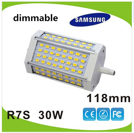 Free shipping 30w led R7S light 118mm dimmable J118 R7S lamp 3 years warranty flood light source