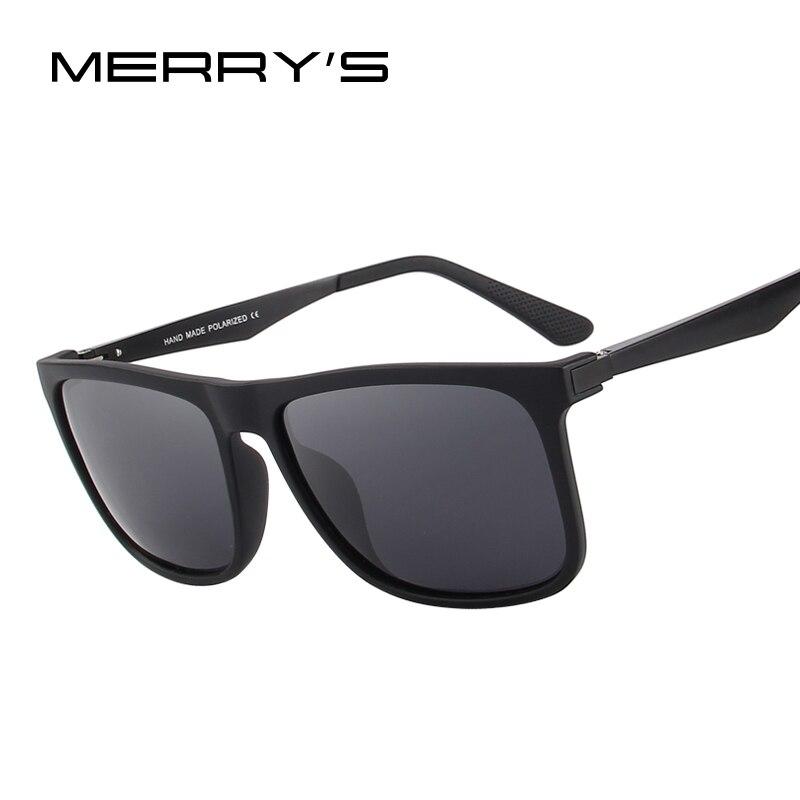 Gafas polarizadas de los hombres cuadrados gafas de sol moda gafas hombre aviación aluminio piernas 100% protección UV S'8250