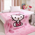 100cm*140cm Baby Blanket Cartoon Coral Blankets Hello kitty Air Conditioning Quilt Pink Blue