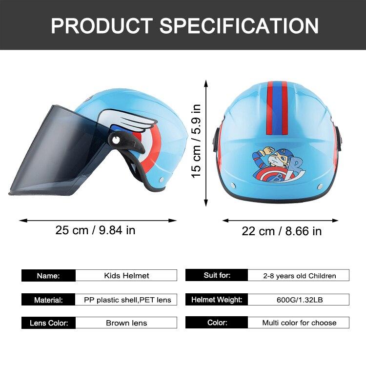 Image 5 - BYB/детский шлем, нарисованный шлем, мотоциклетный велосипедный шлем, шлем для мальчиков и девочек, детская Кепка для скейтборда, детские шлемы для скутеров 2 8 лет-in Шлемы from Автомобили и мотоциклы