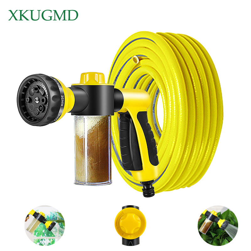 Garden Watering Spray Gun Outdoor Fertilization Watering Sprinkler Gun Lawn Irrigation Car Cleaning Water Pipe Set image