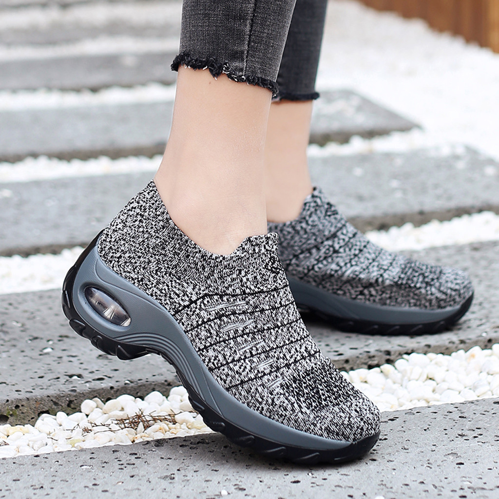 YOUYEDIAN sneakers women Solid Flat-Slip Shoes  Lace-Up Mesh  sneakers platform chunky sneakers zapatos de mujer 2019(China)