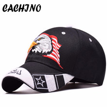 9260b78c133 CACHINO High Quality Unisex 100% Cotton Outdoor Baseball Cap Eagle  Embroidery Snapback Fashion Sports Hats For Men   Women Caps