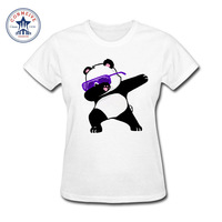 2017 Fashion New Gift Tee Girl S Dabbing Unicorn Panda Cartoon Cotton Funny T Shirt Women