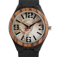 Men's Watches Analog Marble Design Dial Quartz Men Wristwatch Military Outdoor Wooden Bamboo Clock Relogio Masculino 2017 Gift