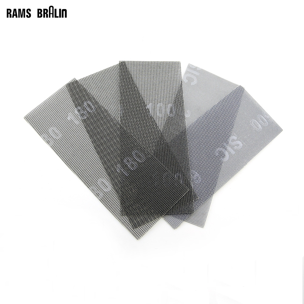 10 Pcs Wet And Dry Abrasive Mesh Net Sandpaper 115*280 Mm Anti Block Sanding Screen Carving Stone Tools