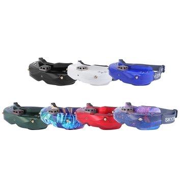 Óculos FPV SKYZONE SKY02X 5.8Ghz 48CH Apoio 2D/3D Cabeça HDMI DVR Câmera de Rastreamento Com Ventilador Para RC corridas de avião FPV Zangão