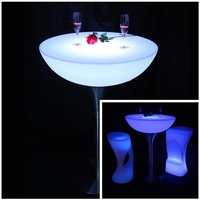 Garden Outdoor Tables Fashion LED Decorativas Iluminadas Table Lighting SK LF20 D80 H110cm 2pcs Lot