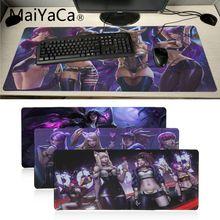 Maiyaca Лига Легенд Виртуальная лента для девушки K DA KaiSa2 резиновый игровой коврик для мыши Настольный коврик компьютерная игровая мышь коврик геймерская игра коврики